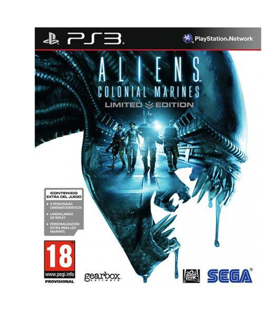 PS3 ALIEN COLONIAL MARINE LIMITED