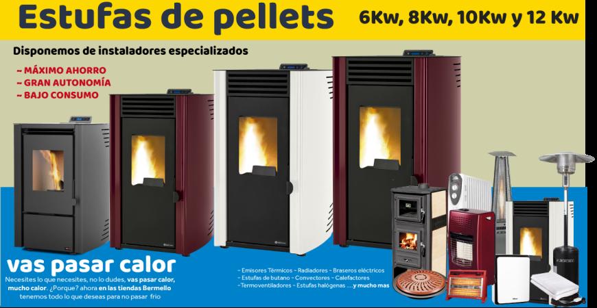 Tipos de Estufas de Pellets y Ventajas - Bermello